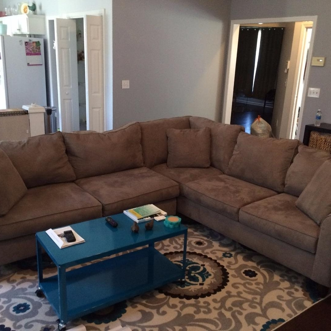 Fashionable Havertys Mocha Amalfi 2 Piece Sectional Sofa W/ 5 Year Protection Regarding Havertys Sectional Sofas (View 2 of 20)