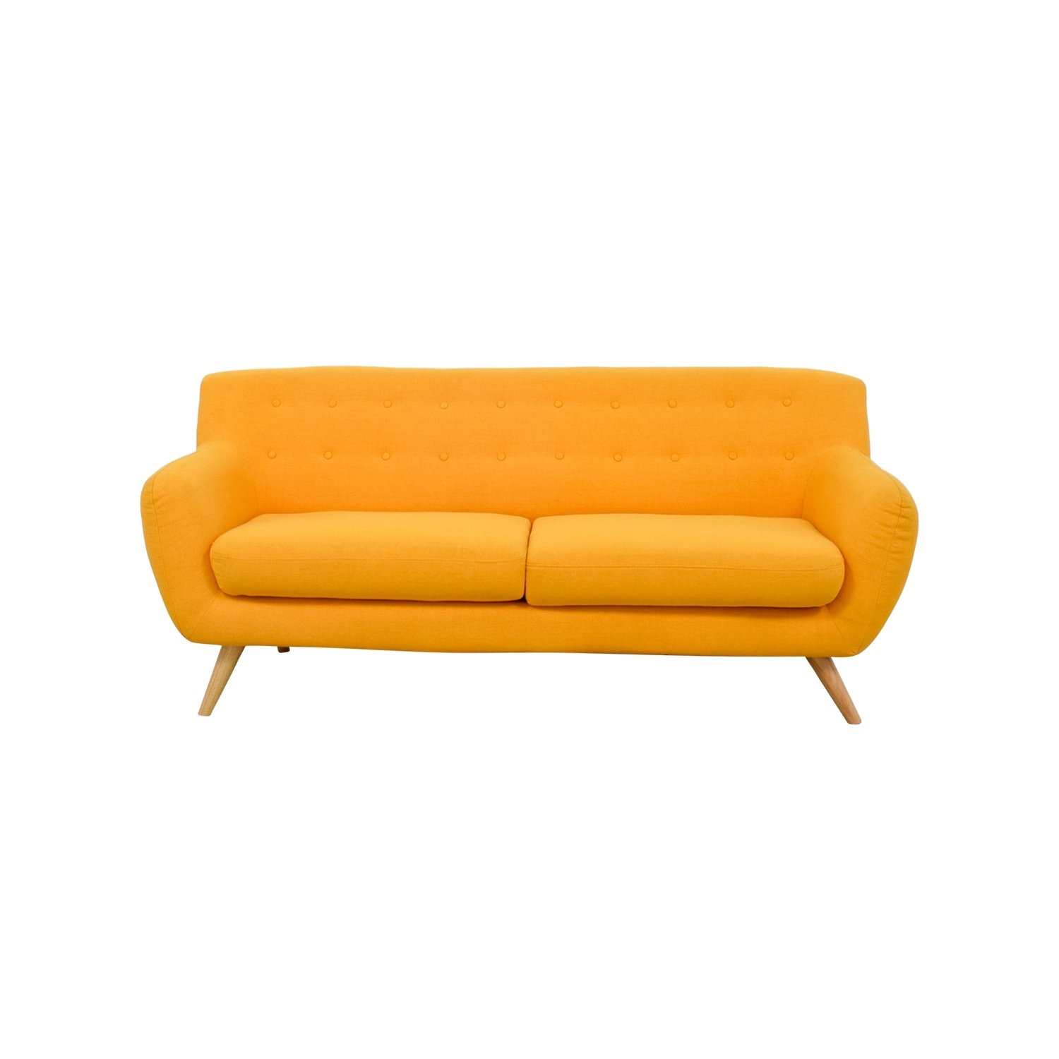 Fashionable Home Decor : 42 Off Mustard Yellow Sofa Sofas Yellow Sofas Yellow Within Yellow Chintz Sofas (View 4 of 20)