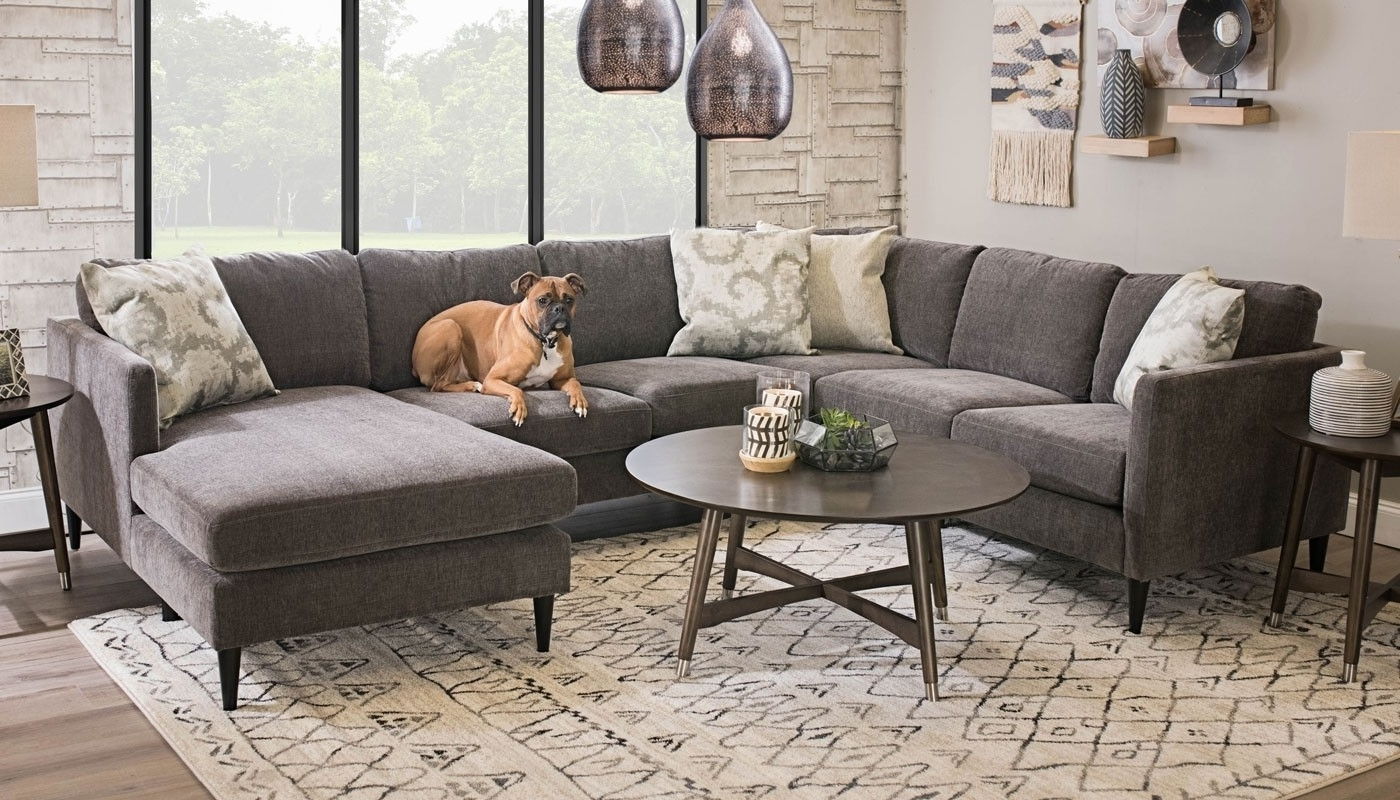 Fashionable Home Zone Sectional Sofas With Regard To Cadence Charcoal Sectional Right Facing Chaise – Home Zone (View 5 of 20)