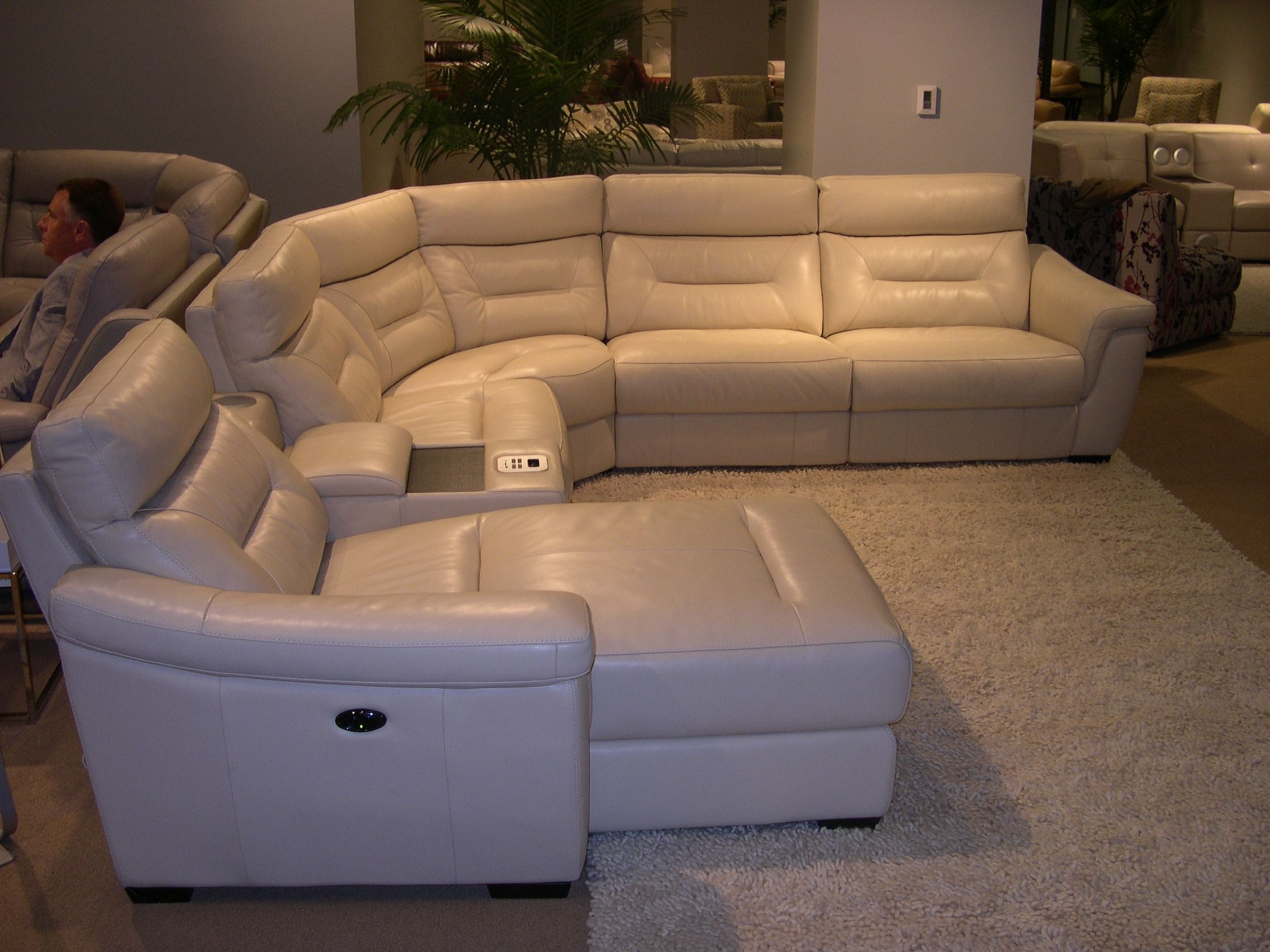 Fashionable Htl Leather Sectional – Adjustable Headrests (View 3 of 20)