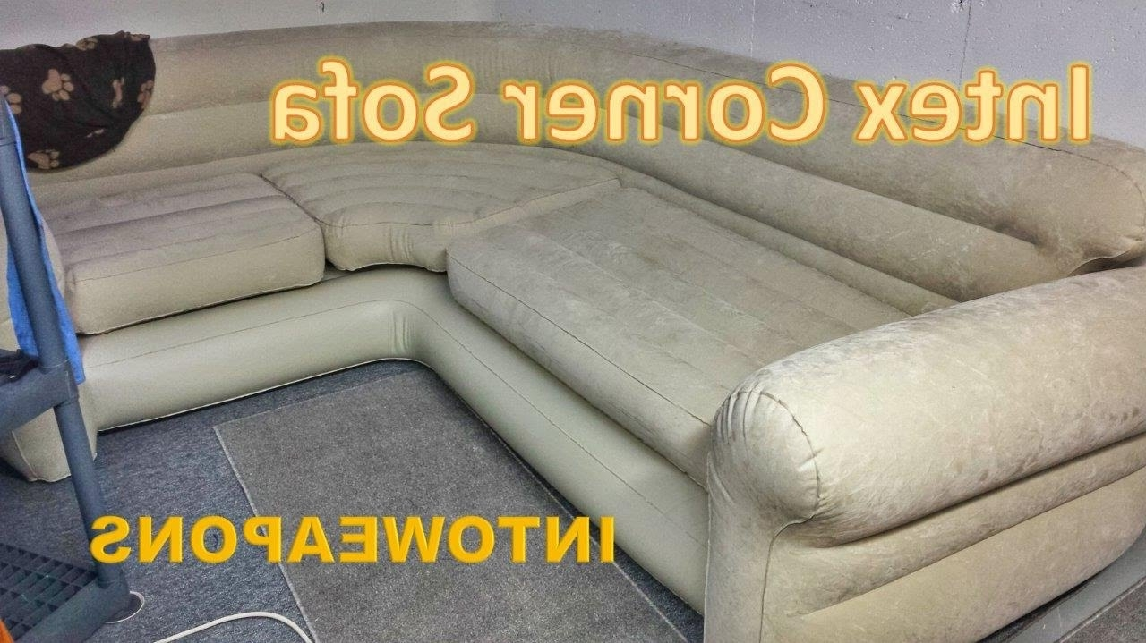 Fashionable Intex Inflatable Corner Sofa Review – Budget Couch – Youtube Intended For Inflatable Sofas And Chairs (View 5 of 20)