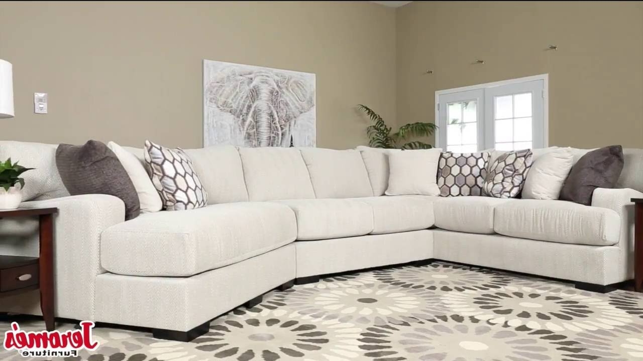 Fashionable Jeromeu0027s Furniture Dunes Sectional U2013 Youtube Intended For  Jeromeu0027s Sectional Sofas (Gallery 11 Of