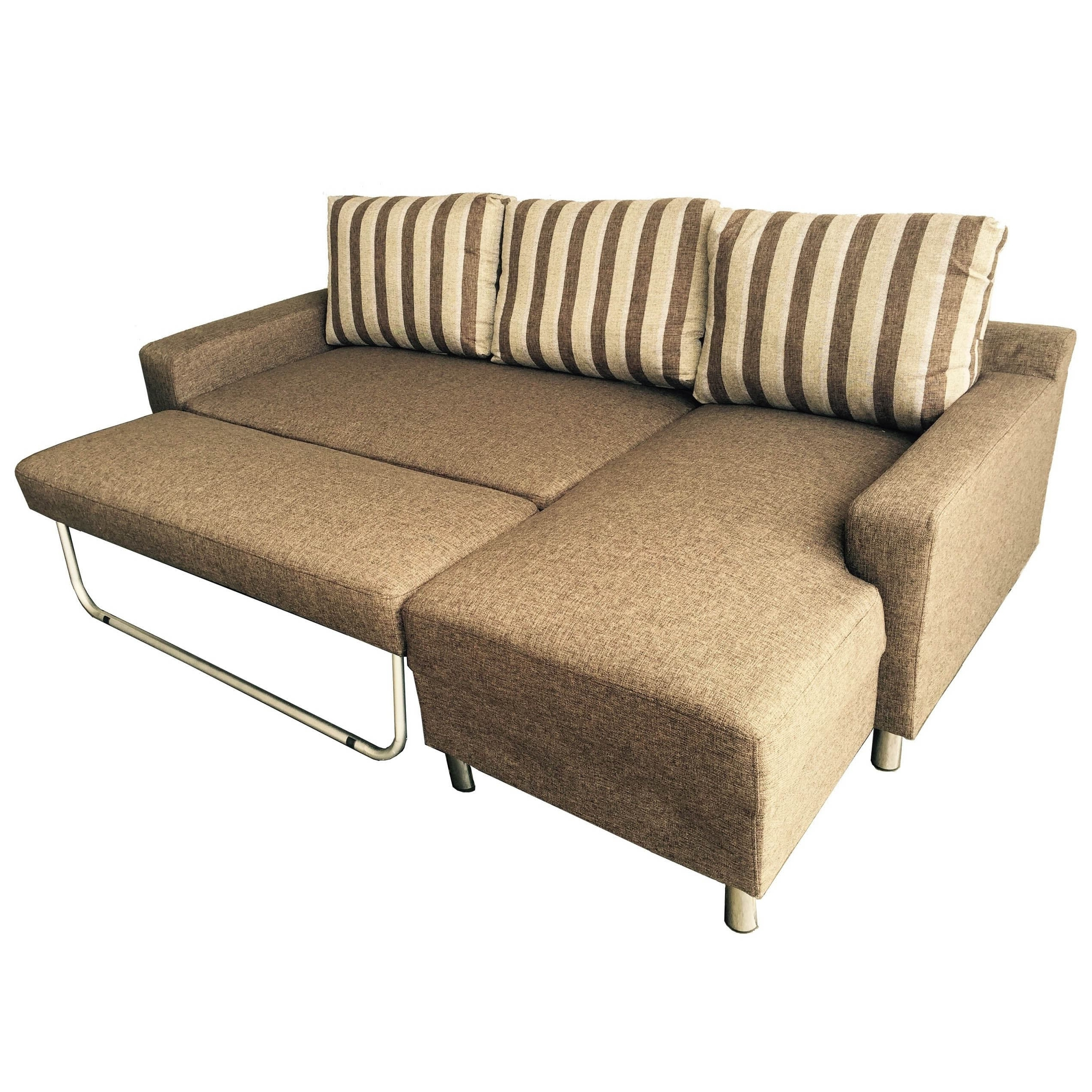 Fashionable Kachy Fabric Convertible Sectional Sofa Bed – Free Shipping Today Intended For Convertible Sectional Sofas (View 13 of 20)