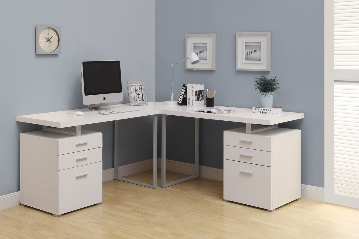 Fashionable L Shaped Computer Desks Inside Monarch Specialties Inc (View 8 of 20)