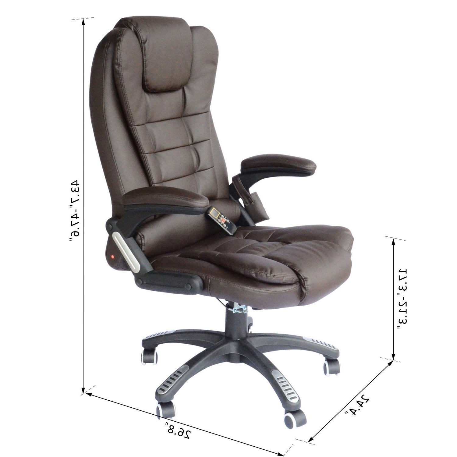 Fashionable Leather Executive Office Massage Chairs Regarding Homcom Heated Ergonomic Massage Chair Swivel High Back Leather (View 4 of 20)