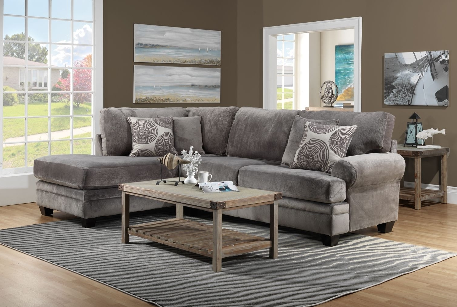 Fashionable Living Room Furniture The Lana Collection Lana 2 Pc (View 5 of 20)