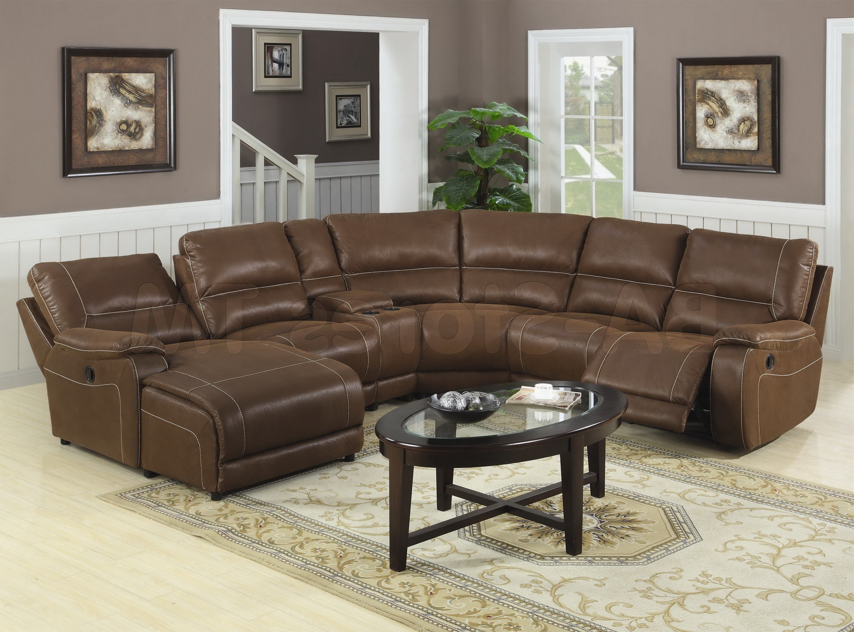 Fashionable Living Room : Living Room Furniture Sectional Modern Sofa Brown With Round Sectional Sofas (View 4 of 20)
