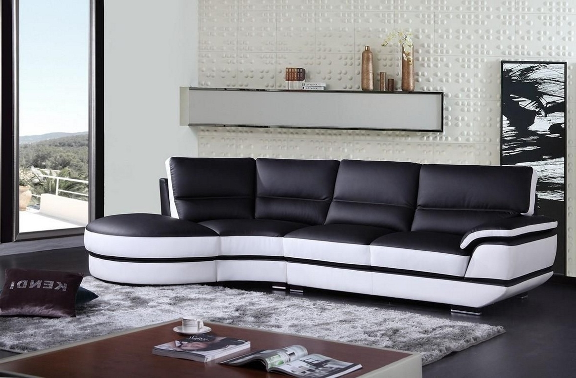 Fashionable Living Room : Modern Living Room Black And White Black White And Throughout Black And White Sofas (View 9 of 20)