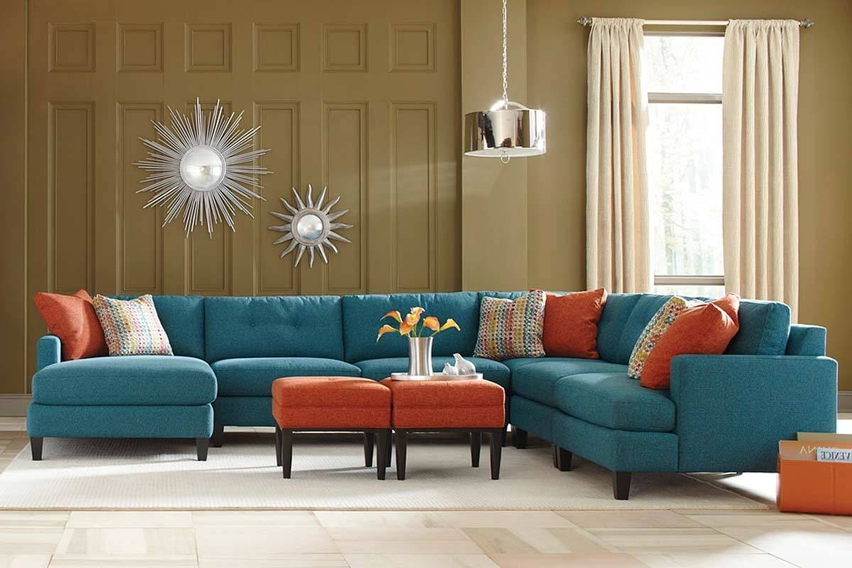 Fashionable Los Angeles Sectional Sofas Throughout Teal Color Custom Sectional Sofa, Made In The Usa Los Angeles (View 5 of 20)