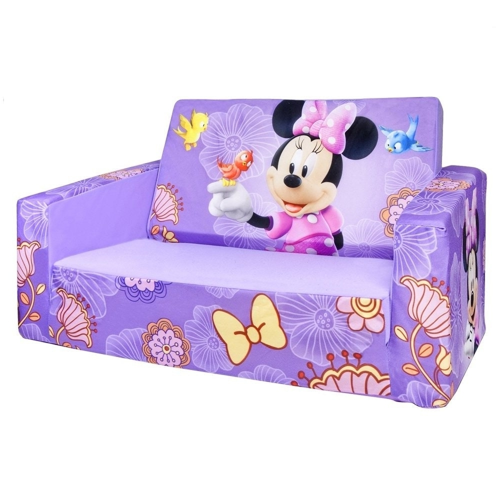 Fashionable Mickey Mouse Marshmallow Couch Disney Princess Kids Flip Out With Regard To Flip Out Sofas (View 2 of 20)