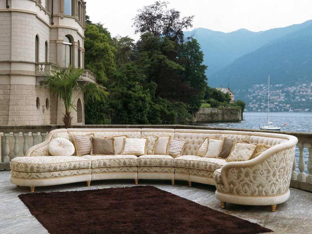 Fashionable Modular Sofa / Semicircular / Traditional / Fabric – Airone – Pigoli Inside Semicircular Sofas (View 20 of 20)