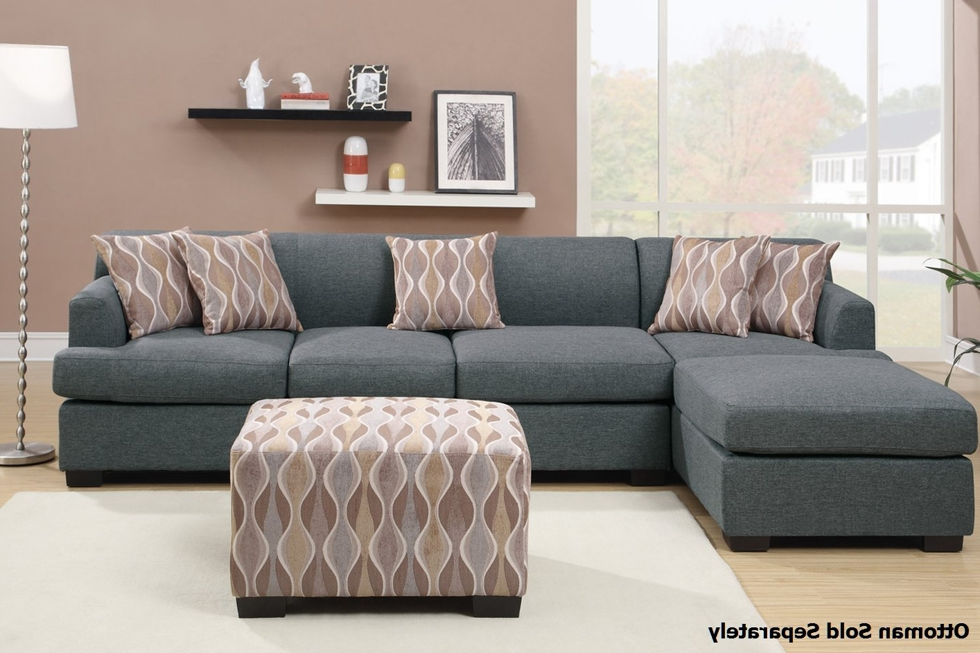 Fashionable Montreal Sectional Sofas For Montreal Iii Grey Fabric Sectional Sofa – Steal A Sofa Furniture (View 6 of 20)