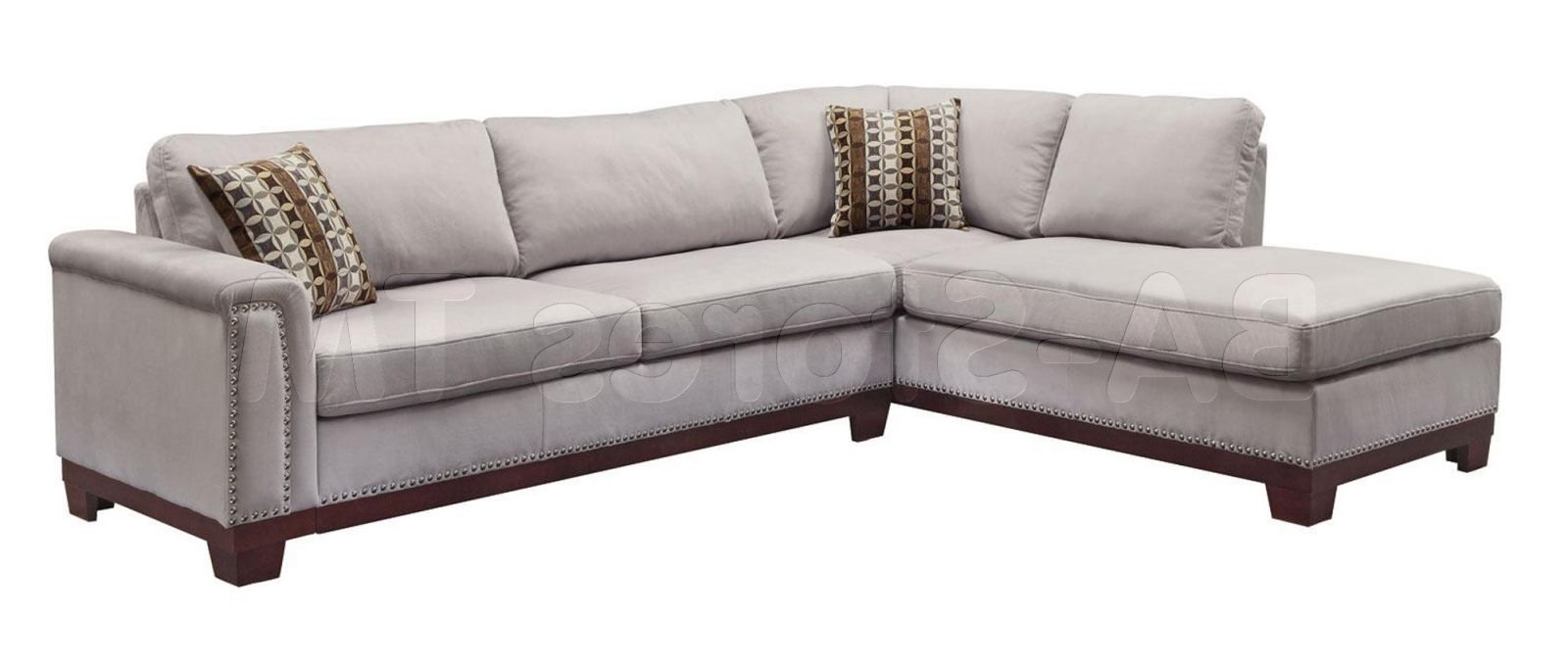 Fashionable Nailhead Trim Sectional Sofa #6 Click To Enlarge For Sectional Sofas With Nailheads (View 5 of 20)