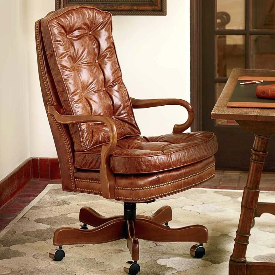 Fashionable Office Design : Luxury Executive Reclining Leather Office Chair With Regard To Brown Leather Executive Office Chairs (View 18 of 20)