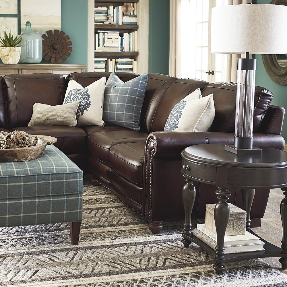 Fashionable Old World Brown Leather Sectional (View 6 of 20)