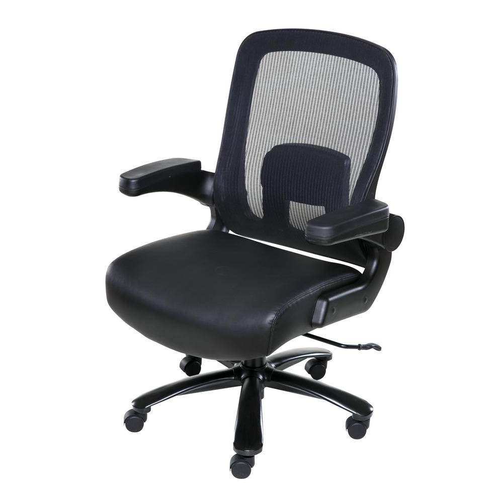Fashionable Onespace Black Taft Mesh Back Oversized Executive Chair With Throughout Oversized Executive Office Chairs (View 3 of 20)
