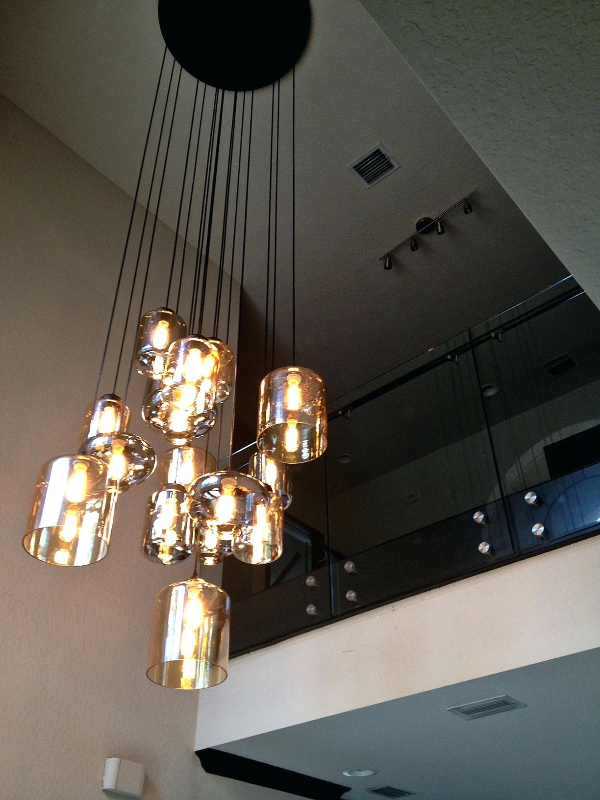 Fashionable Pendant Light: Stairwell Pendant Light (View 1 of 20)