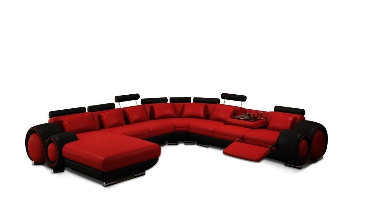 Fashionable Red Black Sectional Sofas Regarding Vig Furniture 4084 Contemporary Red And Black Sectional Sofa (View 12 of 20)