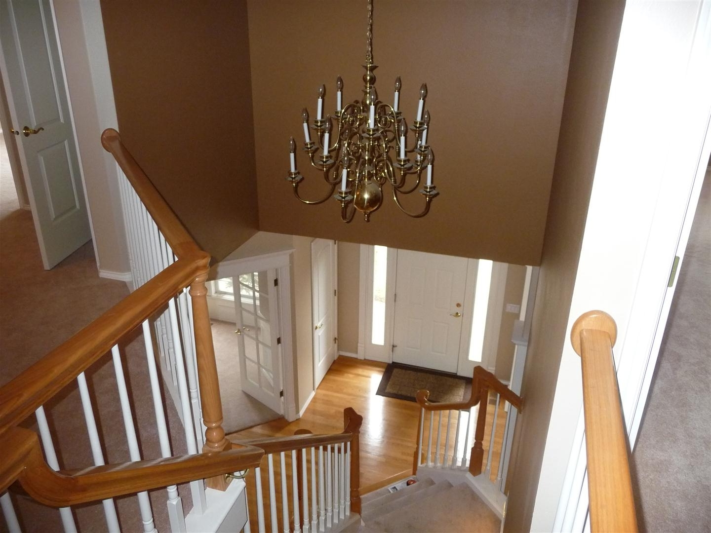 Fashionable Replacing Chandelier – Entry Is 2 Stories Tall (Phone, Painting Regarding Stairwell Chandelier Lighting (View 2 of 20)