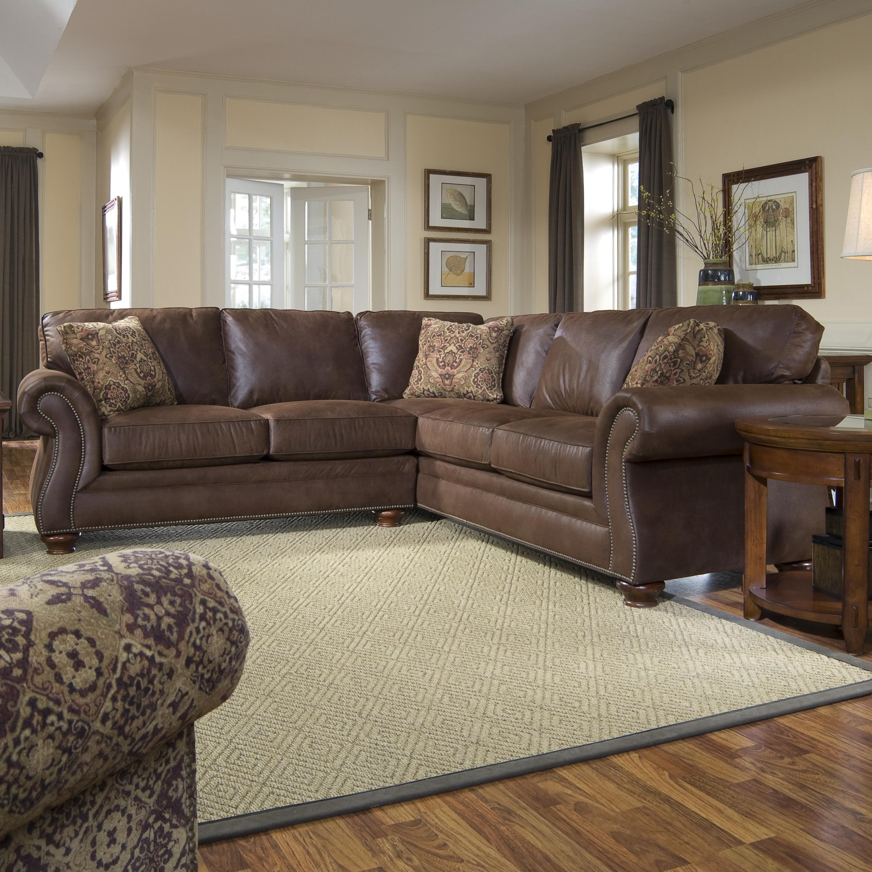 Fashionable Sectional Sofas At Broyhill Regarding Broyhill Furniture Laramie 3 Piece Sectional Sofa (View 7 of 20)