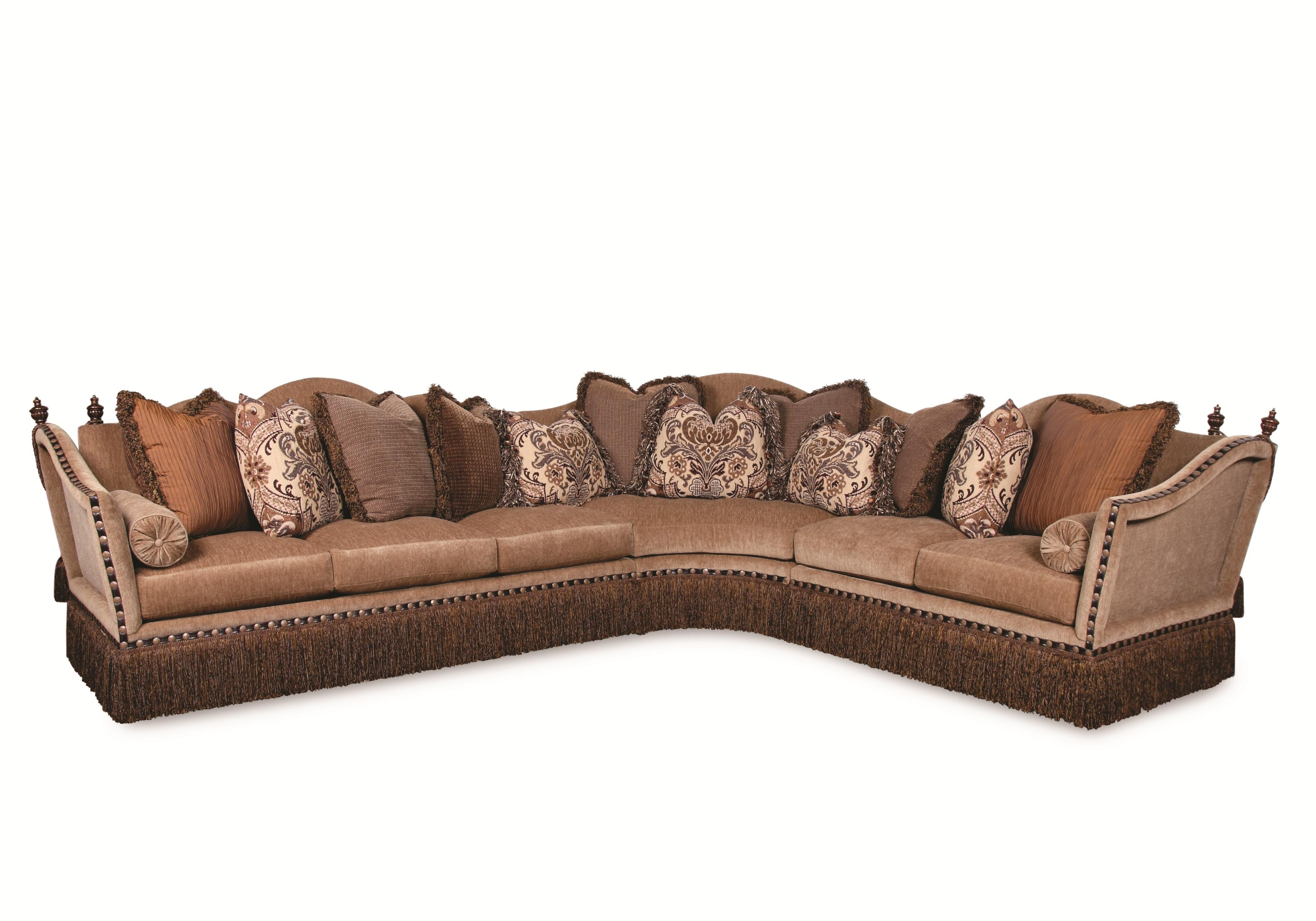 Fashionable Sectional Sofas In Savannah Ga For Lorraine Fringed Sectional Sofarachlin Classics (View 6 of 20)
