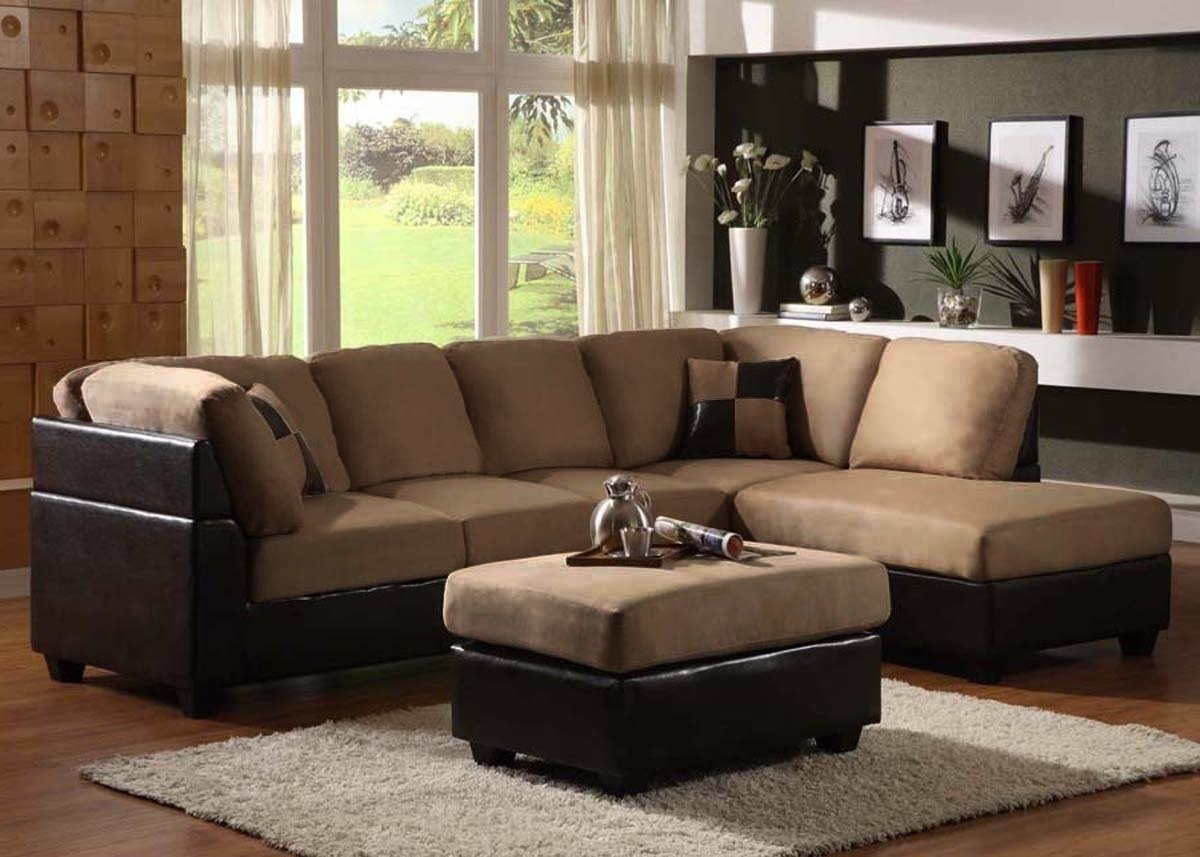 Fashionable Sectional Sofas With Chaise Lounge And Ottoman Intended For Broyhill Fabric Sectional Cheap Living Room Sets Under $ (View 6 of 20)