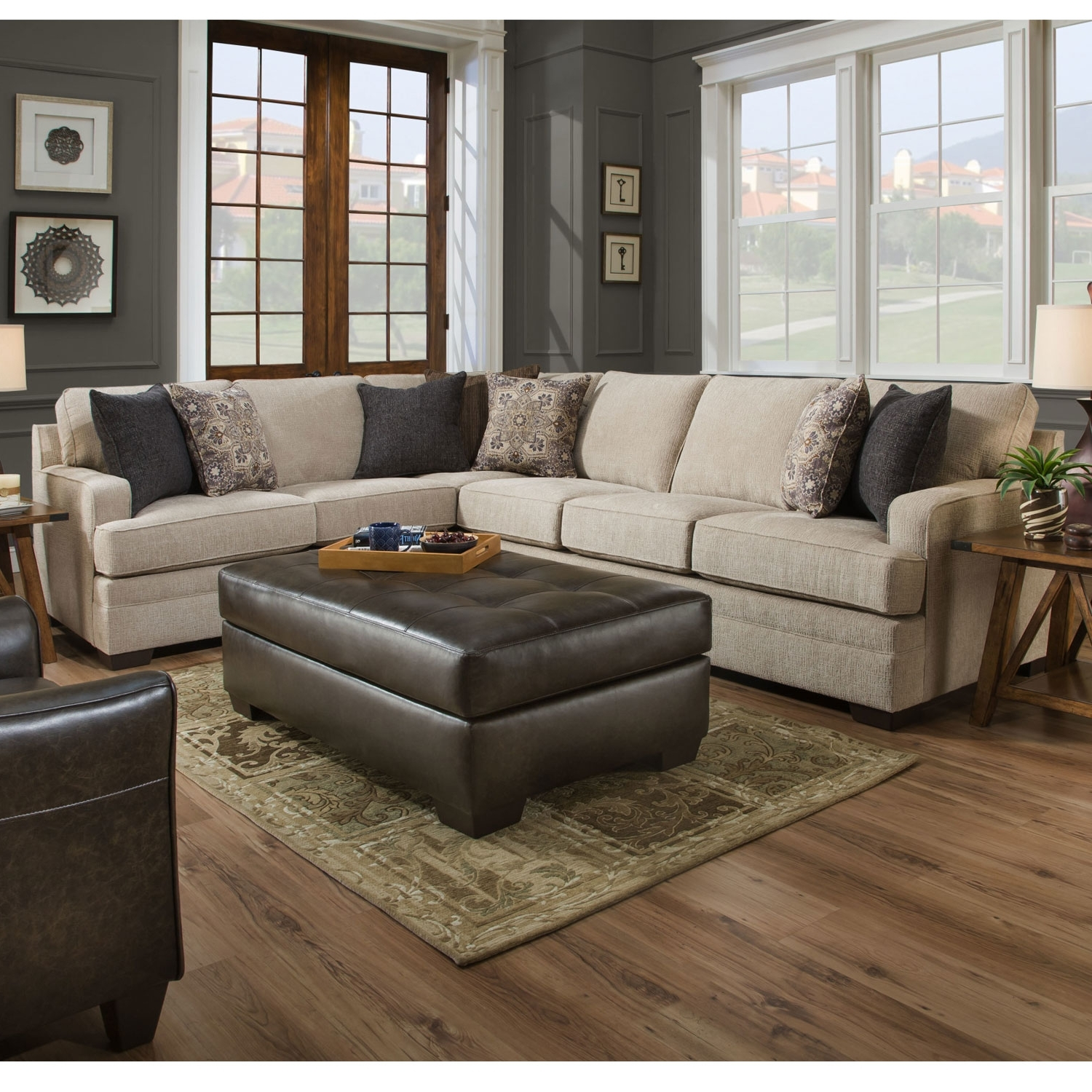 Fashionable Simmons Sectional Sofas Intended For Simmons 9165Br Macy Sand Sectional Sofa (View 3 of 20)