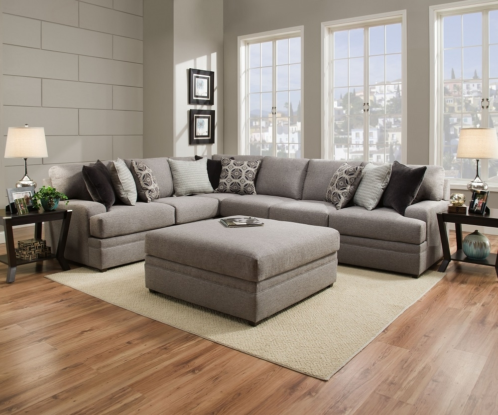 Fashionable Simmons Sectional Sofas With Simmons Beautyrest 8561 Pocket Coil Grey Sectional Sofa San Diego (View 4 of 20)
