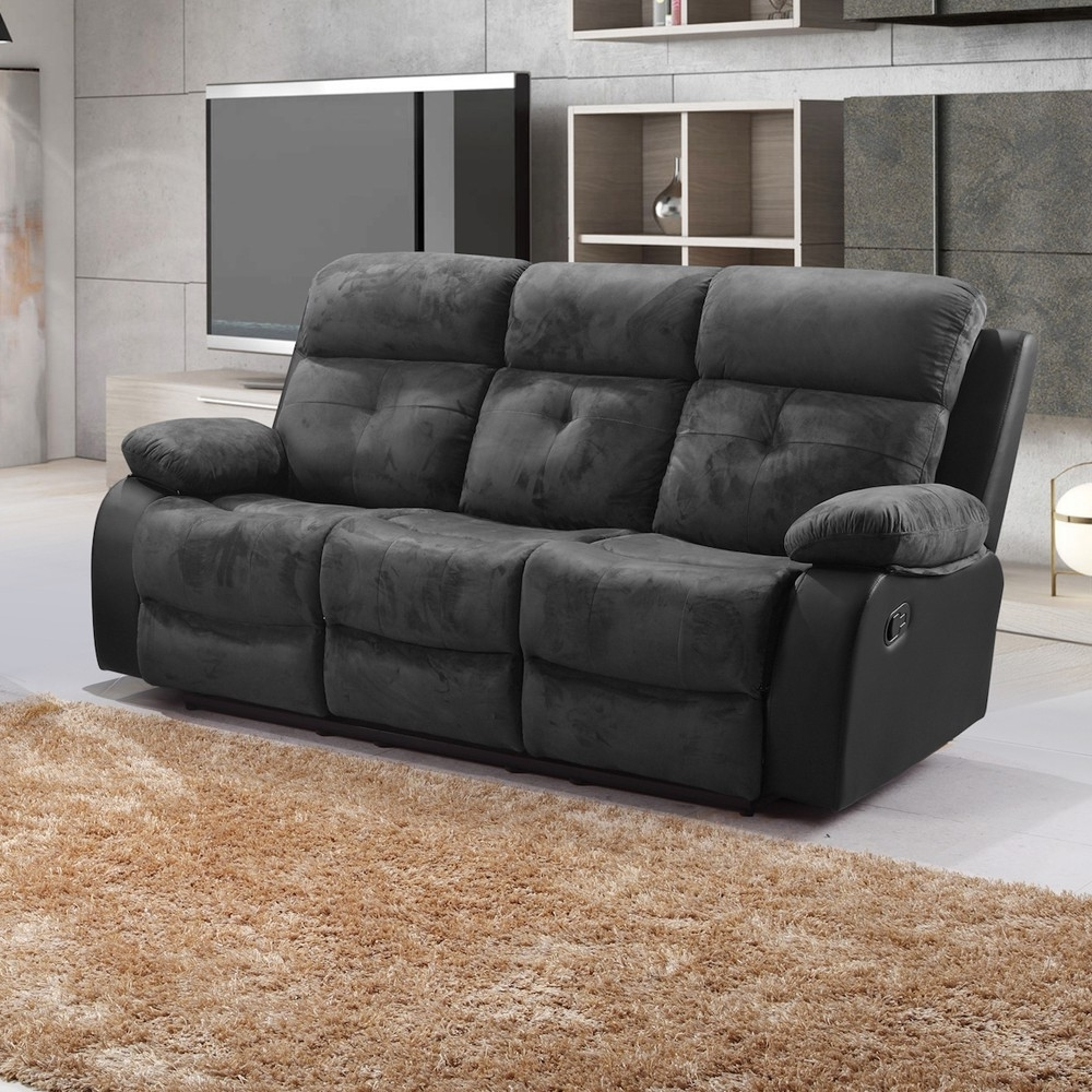 Fashionable Sofa : Keesling Fabric Recliner Sofa Cheap Fabric Recliner Sofas Regarding Faux Suede Sofas (View 5 of 20)