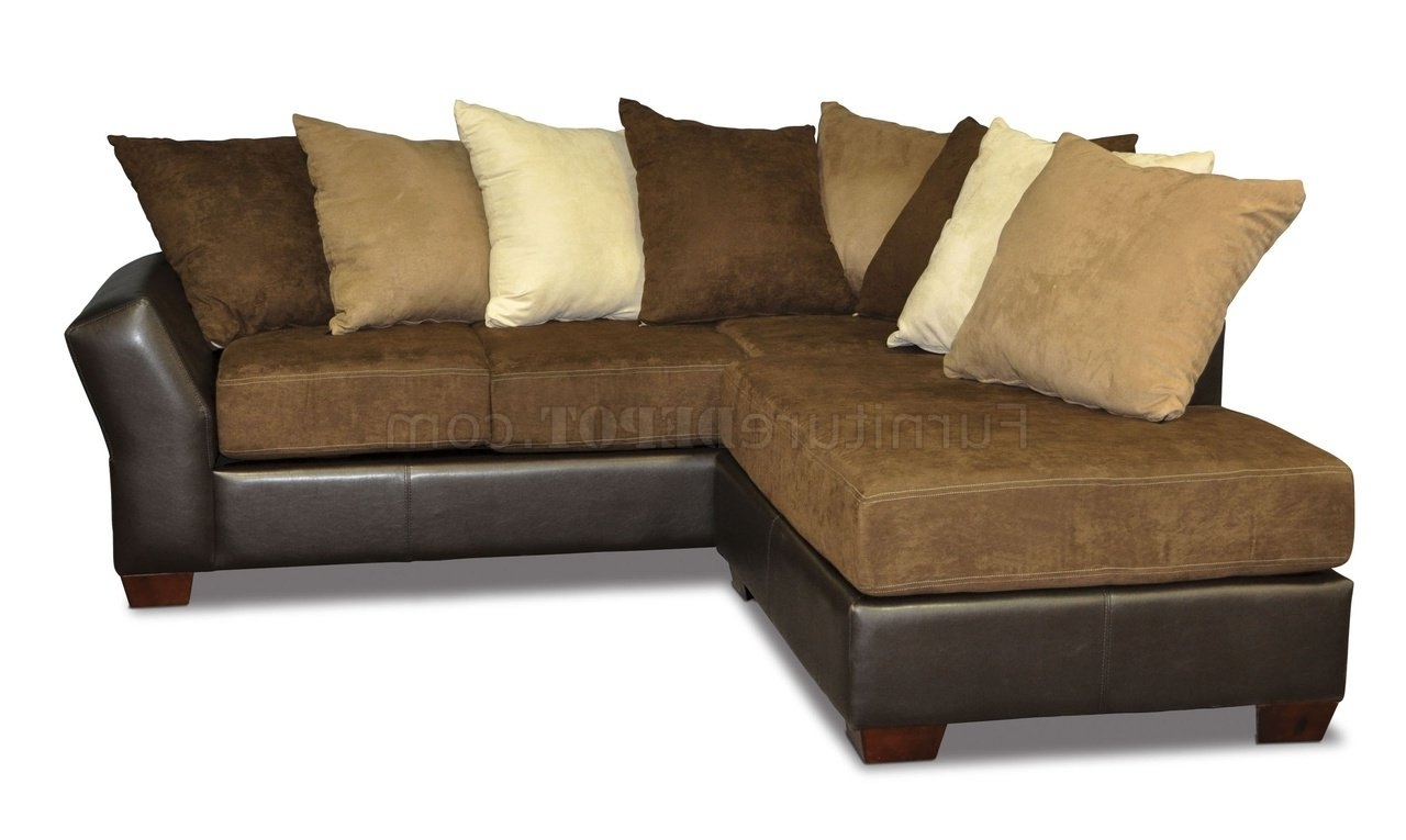 Fashionable Sofas With Oversized Pillows Regarding Back Modern Sectional Sofa W/oversized Back Pillows (View 6 of 20)