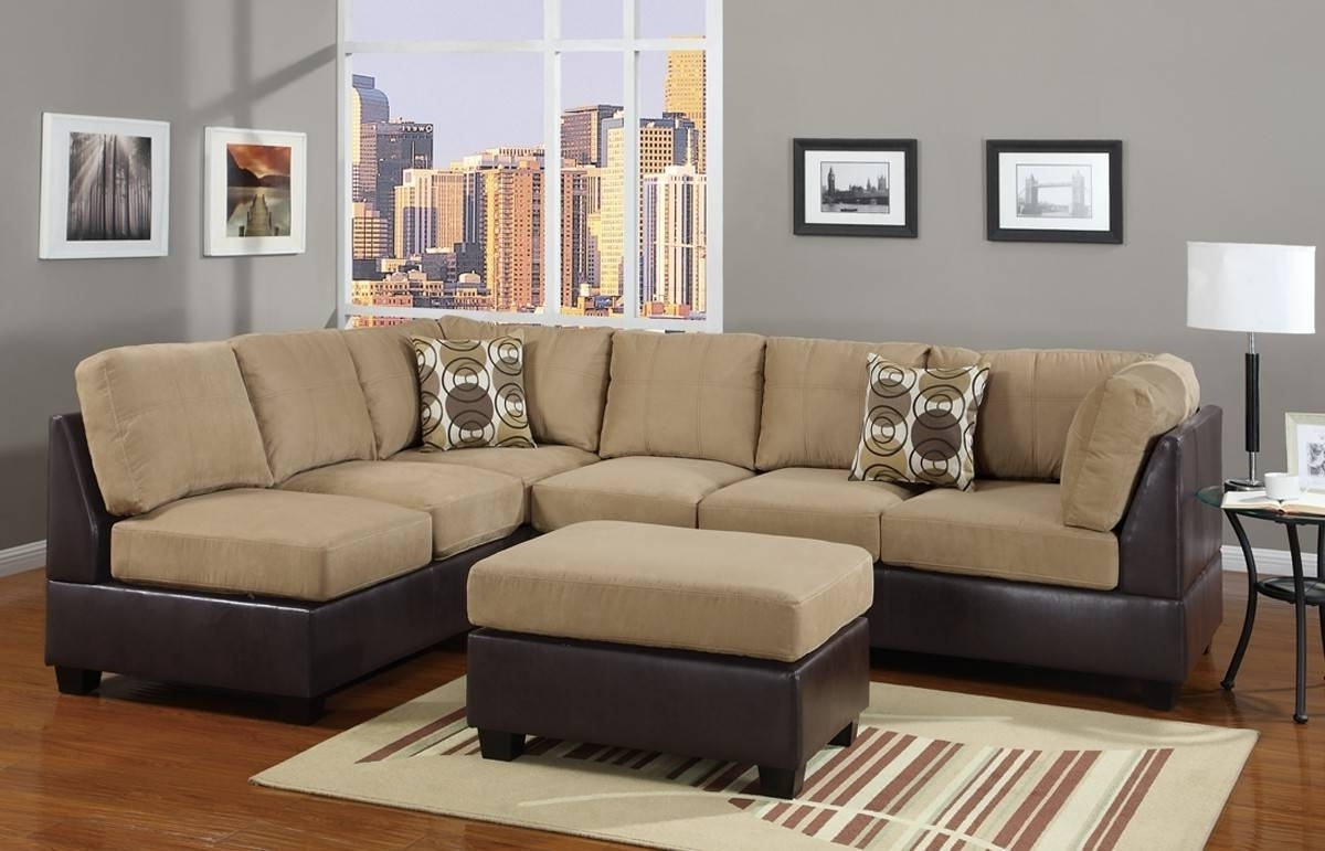 Top 20 of Leather And Suede Sectional Sofas