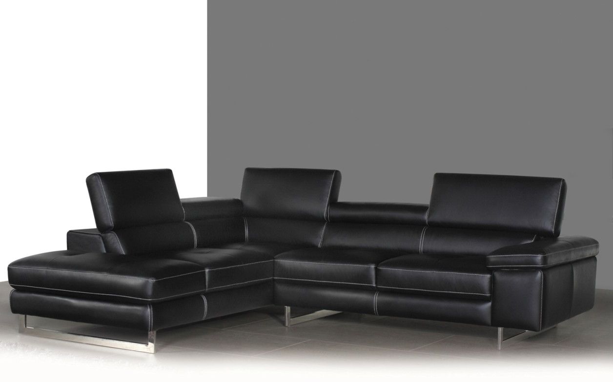 Fashionable Syncro Leather Sectional Sofa – Titanium Grey (View 4 of 20)