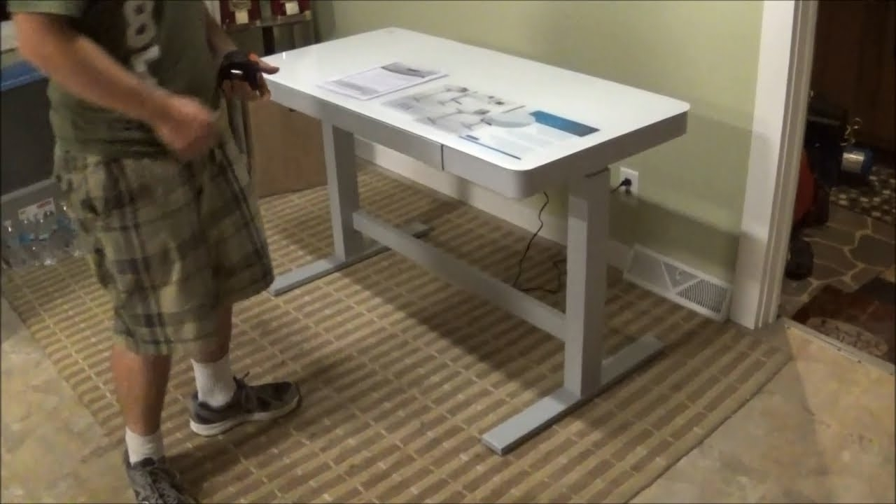 Fashionable Tresanti Adjustable Height Motorized Standing Desk Costco Sku With Regard To Computer Desks At Costco (View 7 of 20)