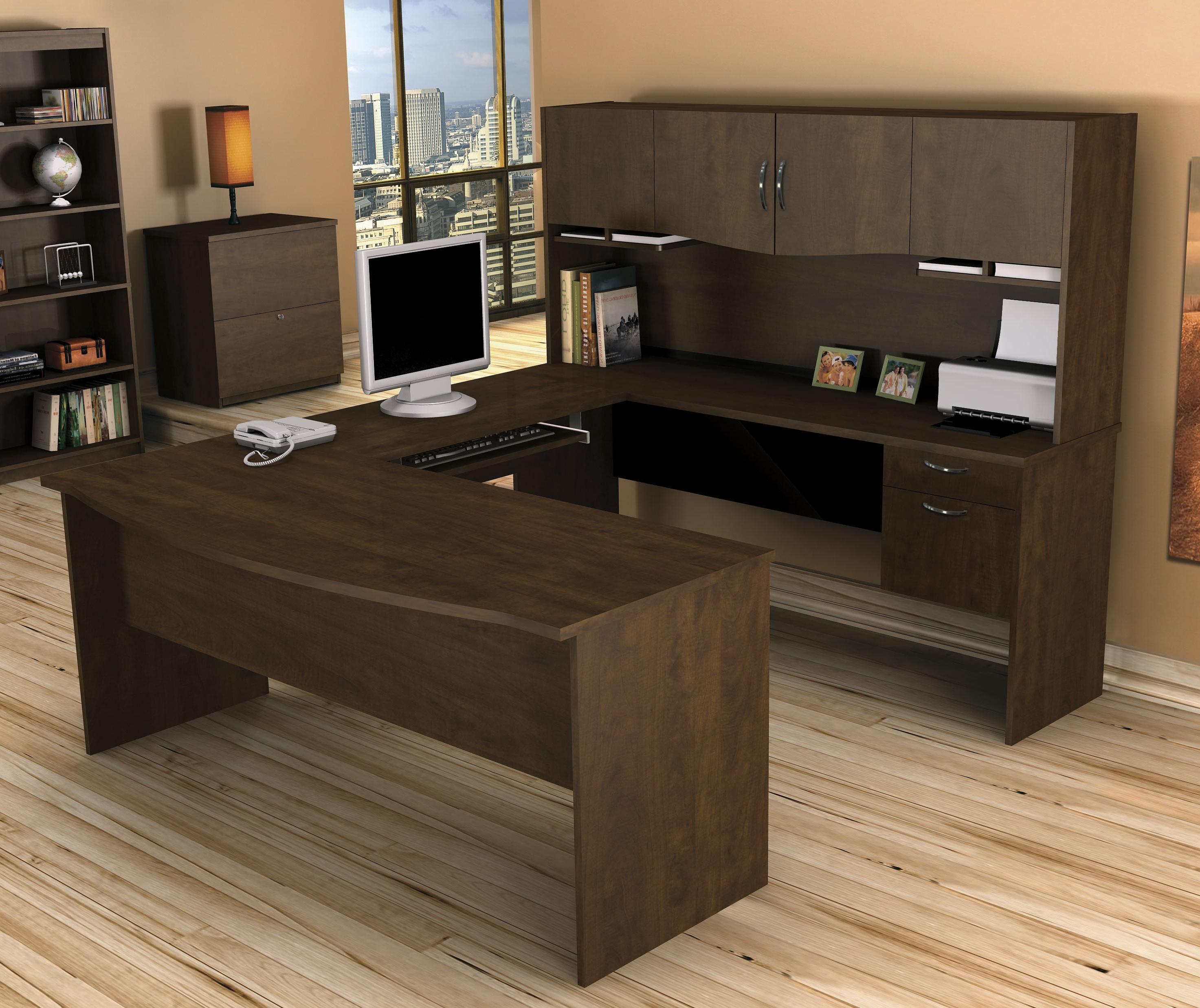 Fashionable U Shaped Computer Desks For Bestar Harmony U Shaped Computer Desk (View 3 of 20)