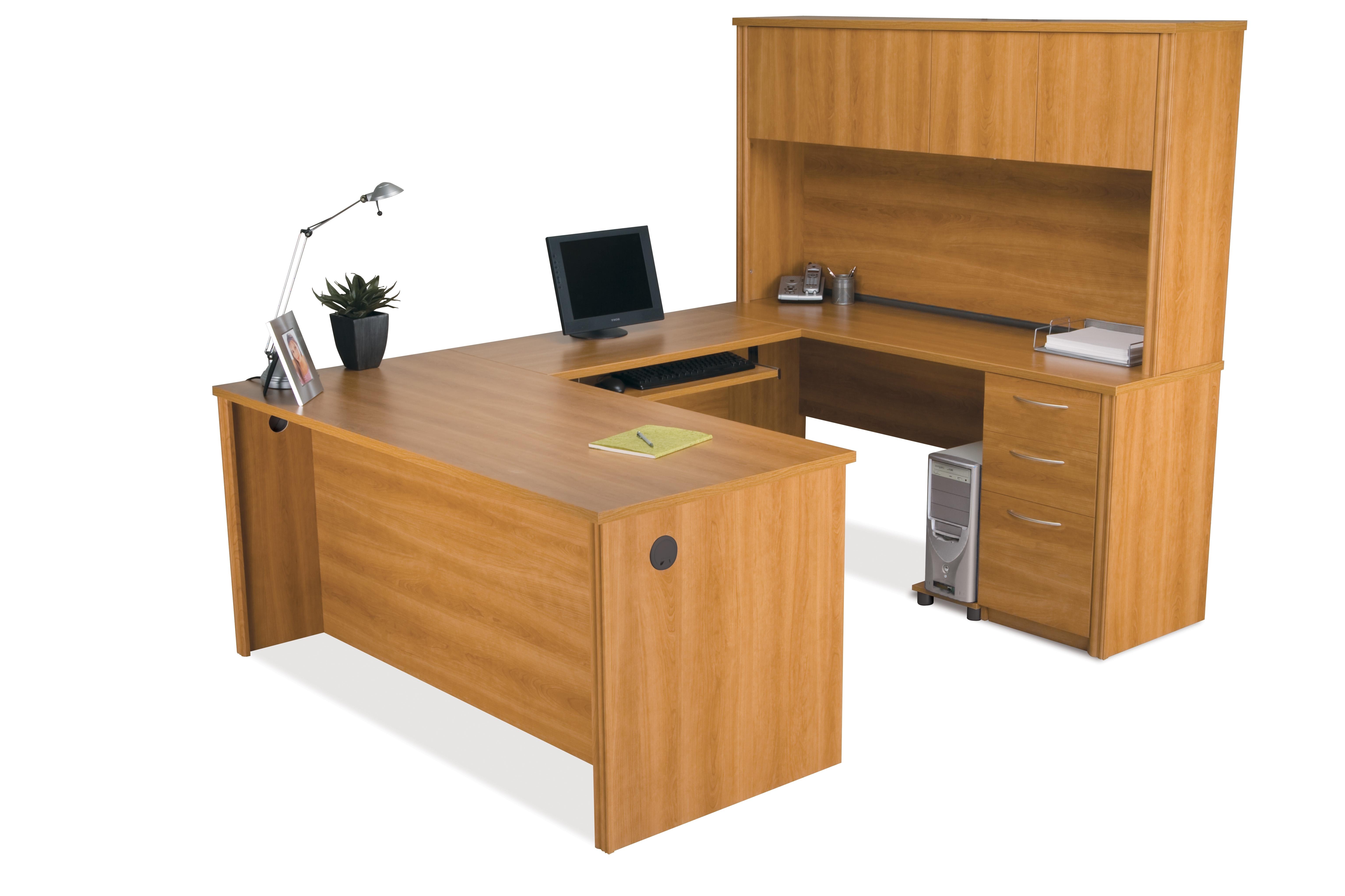 Fashionable U Shaped Computer Desks In Bestar Embassy U Shaped Computer Desk And Hutch (View 5 of 20)