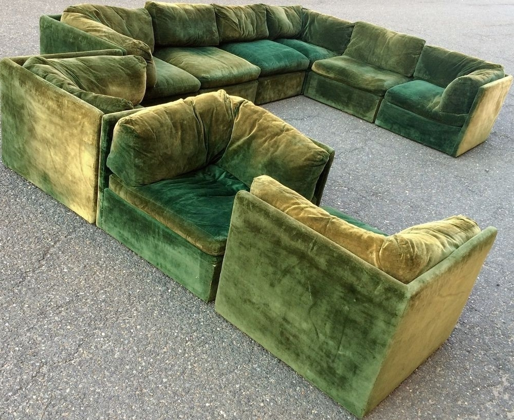 Fashionable Vintage Sectional Sofas With Luxury Vintage Mid Century Modern Large Milo Baughman Sectional (View 3 of 20)