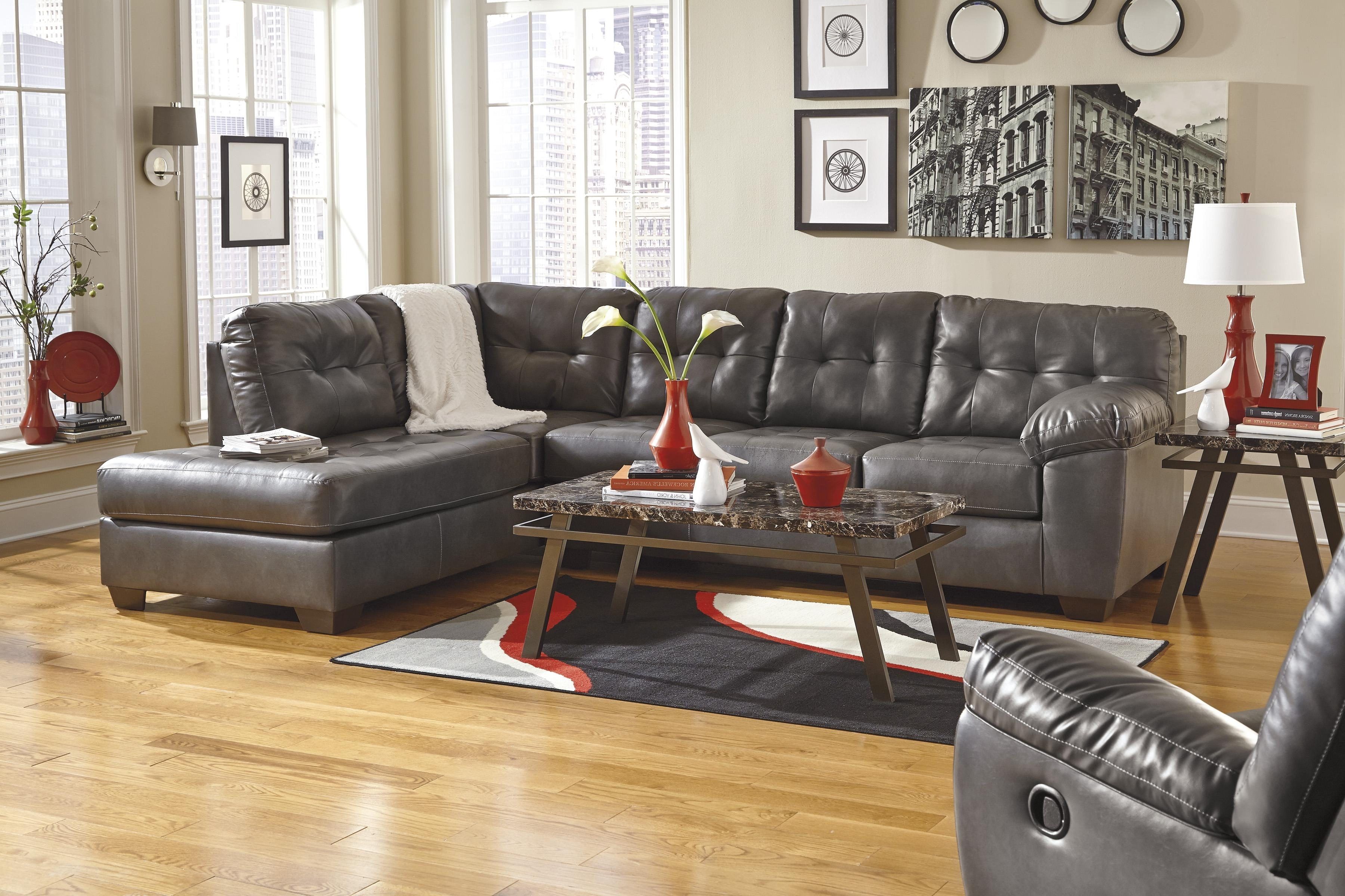 Faux Leather Sectional Sofas In Most Popular Faux Leather Sectional W/ Right Chaise & Tuftingsignature (View 5 of 20)