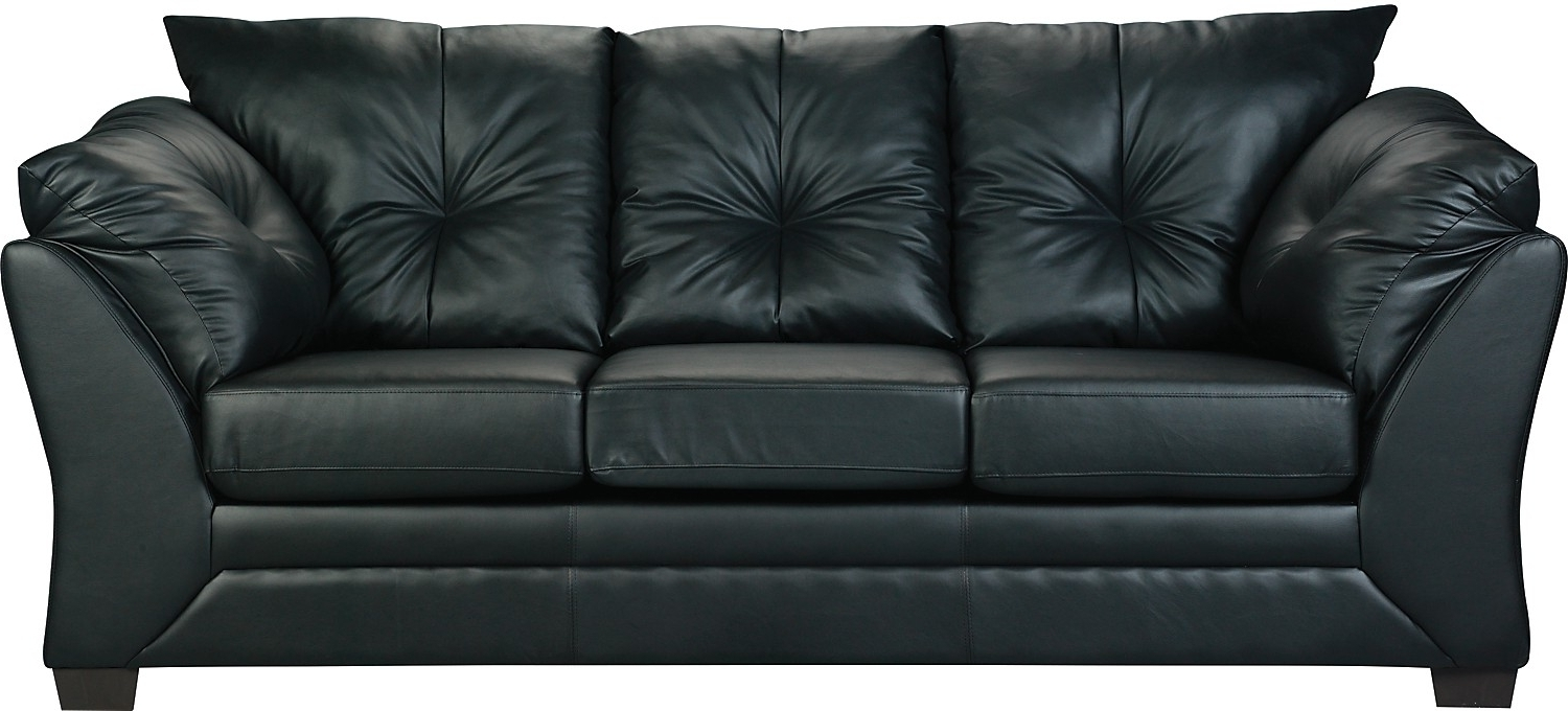 Faux Leather Sofa, Living Room With The Brick Leather Sofas (View 6 of 20)