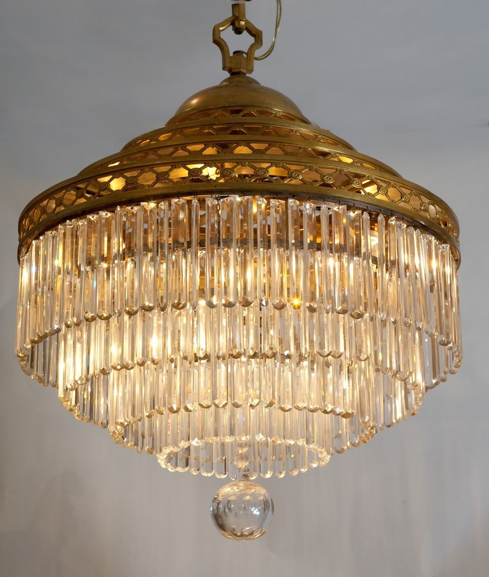 Favorite Antique Tiered Crystal Chandelier – French Circa (View 8 of 20)