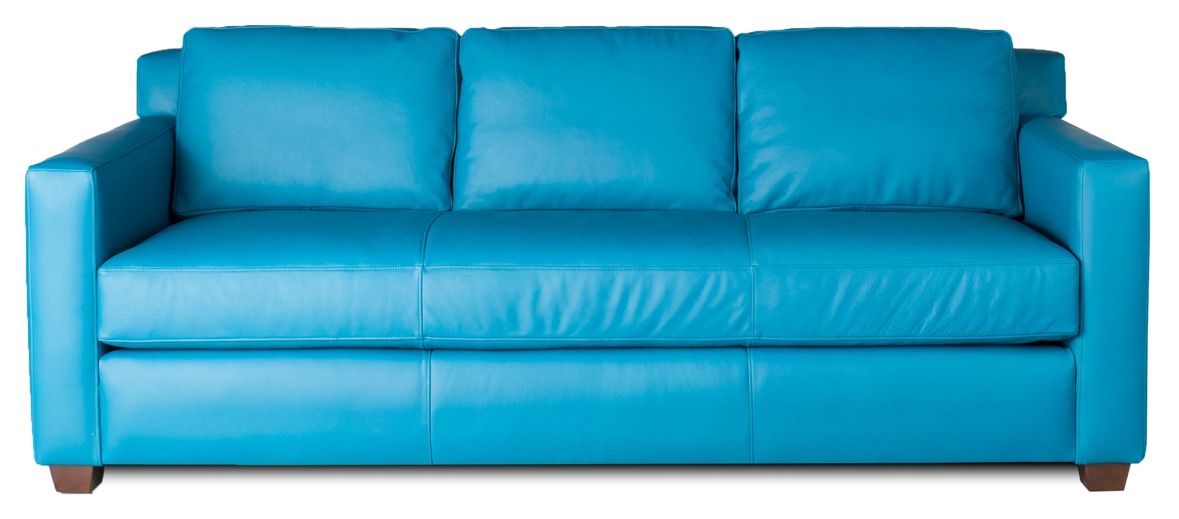 Favorite Aqua Sofas Inside Aqua Leather Sofa (View 10 of 20)