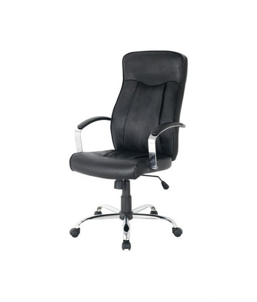 Favorite Black Leather Faced Executive Office Chairs Within Office Chairs Hudson Leather Faced Executive Office Chair In Black (Gallery 3 of 20)