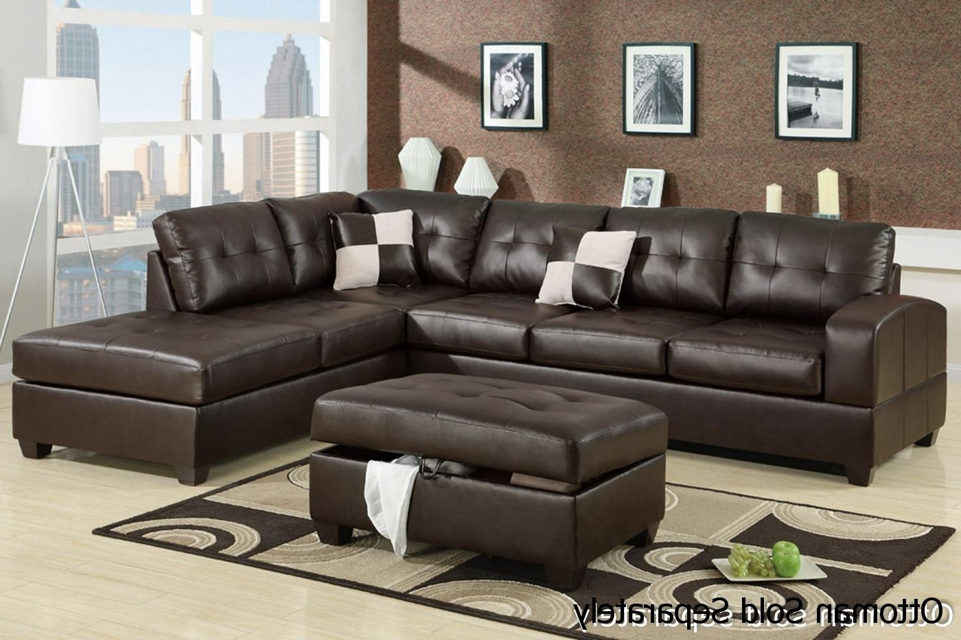 Favorite Brown Leather Sectional Sofa – Steal A Sofa Furniture Outlet Los Intended For Leather Sectional Sofas (View 5 of 20)