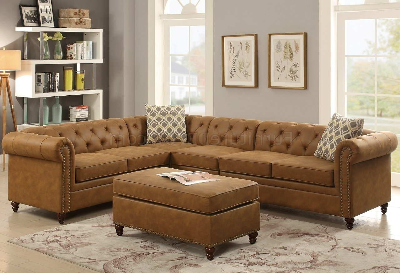 Favorite Camel Colored Sectional Sofas With F6546 Sectional Sofa In Camel Leatheretteboss W/options (View 15 of 20)