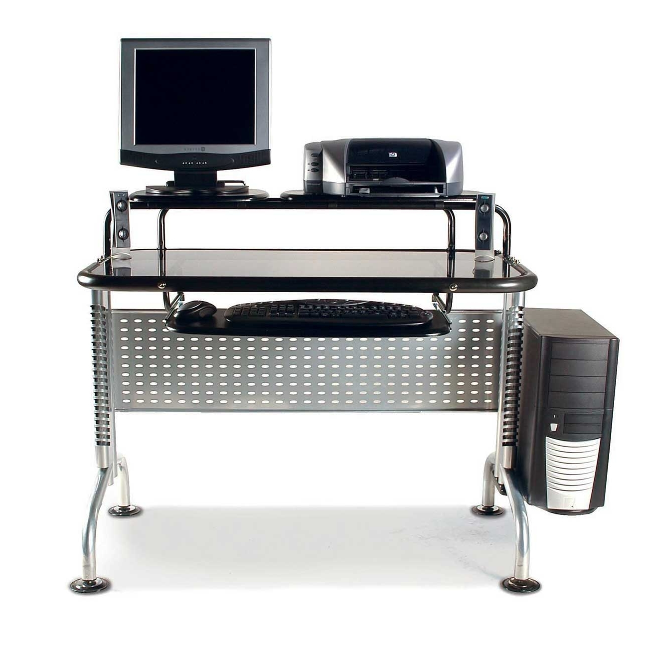 Favorite Captivating Ideas Ergonomic Computer Desk With Keyboard Tray Throughout Computer Desks Ergonomic For Home (View 11 of 20)