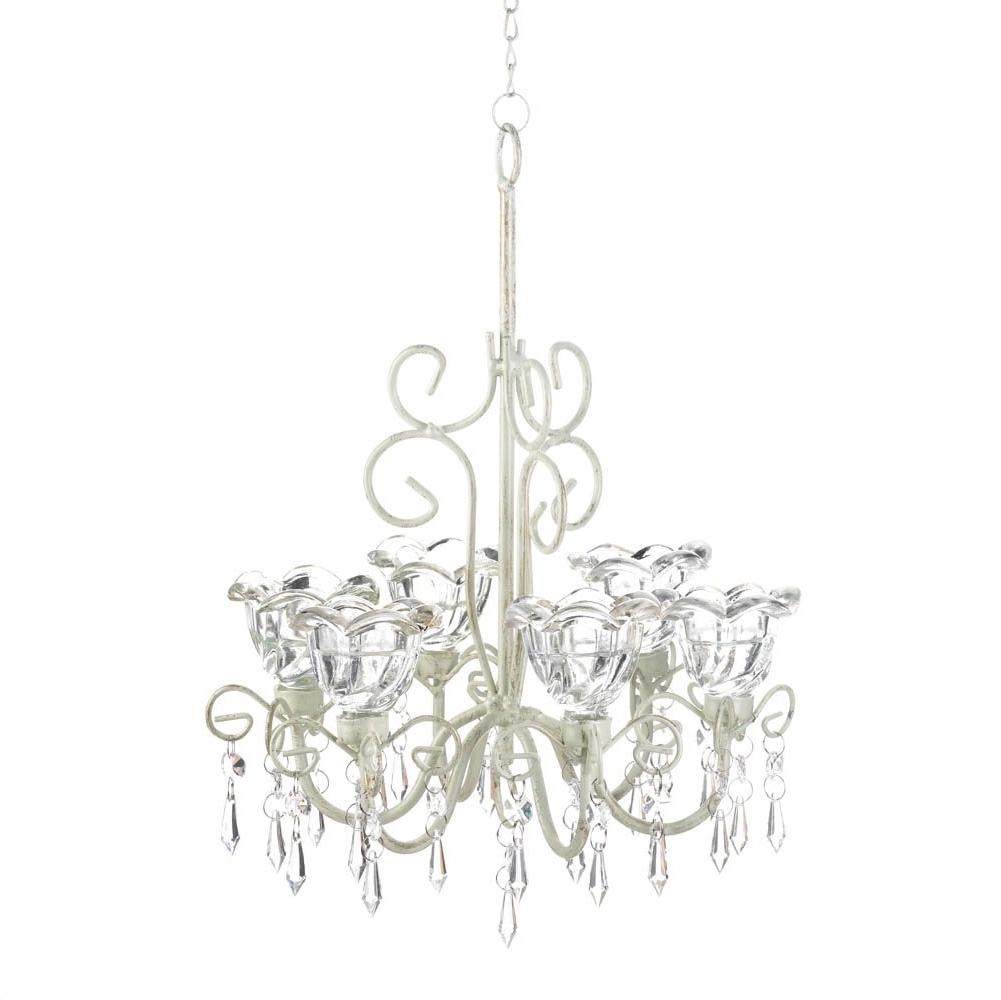 Favorite Chandelier Candle Holder, Decorative Hanging Candle Chandelier White Intended For White Chandeliers (View 6 of 20)