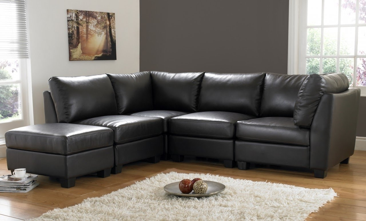 Favorite Cheap Black Sofas Inside Black Leather Sofa (View 11 of 20)
