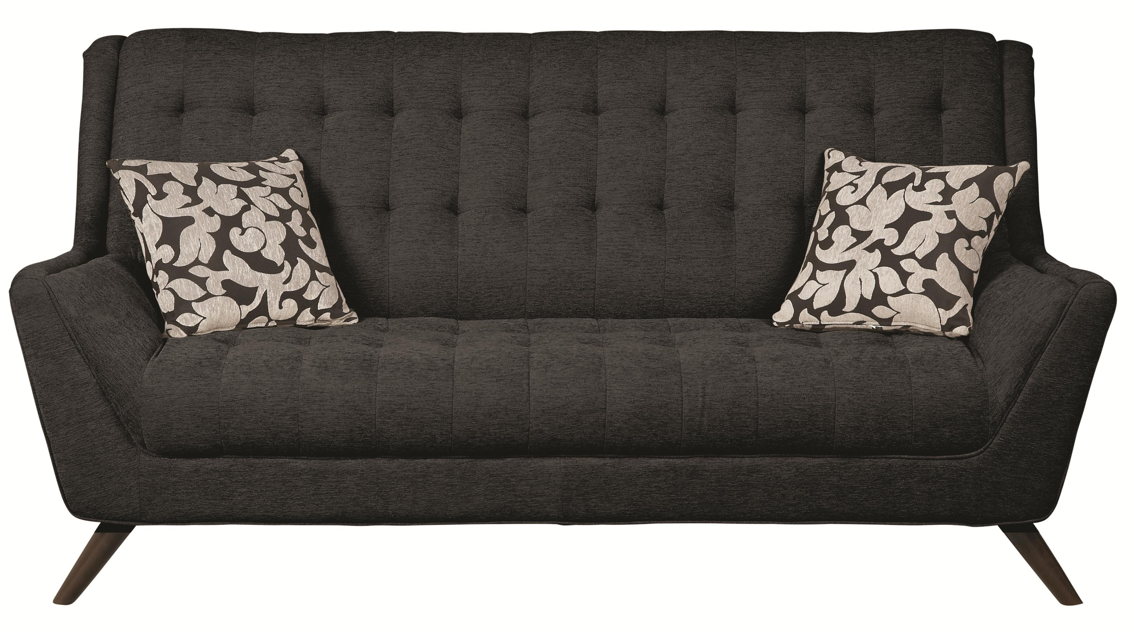 Favorite Cheap Retro Sofas Pertaining To Coaster Natalia 503774 Retro Sofa W/ Flared Arms (View 9 of 20)