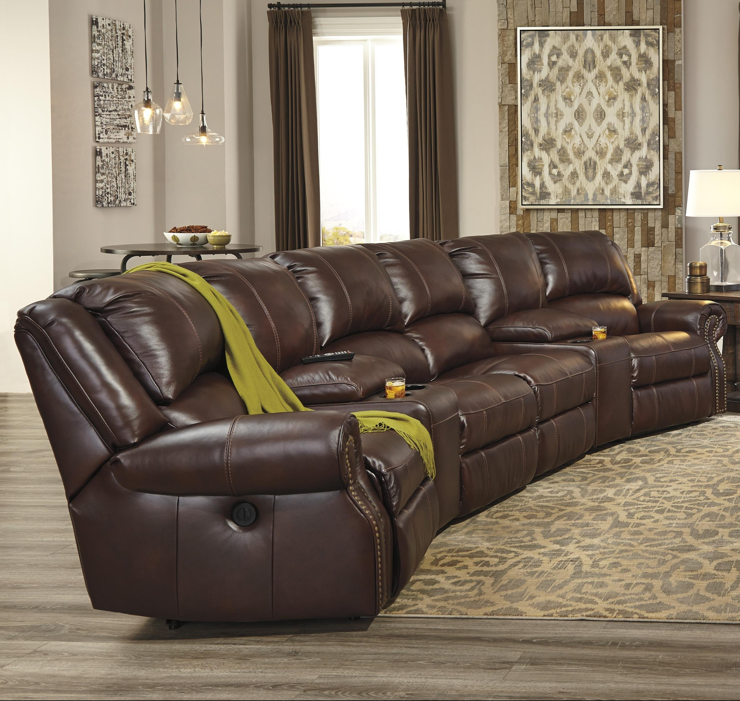 Favorite Collinsville 6 Piece Power Recline Theater Seating Group For Theatre Sectional Sofas (View 4 of 20)