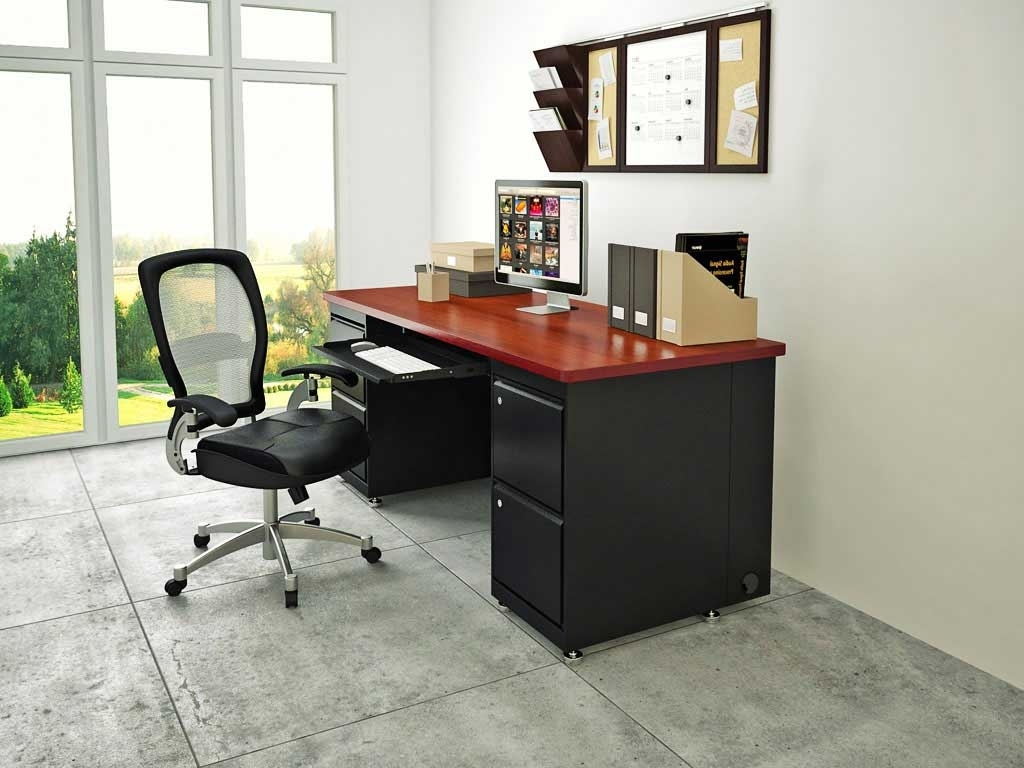 Favorite Computer Desks For Home Within Office Mahogany Computer Desks For Home — Home Design Ideas (View 13 of 20)
