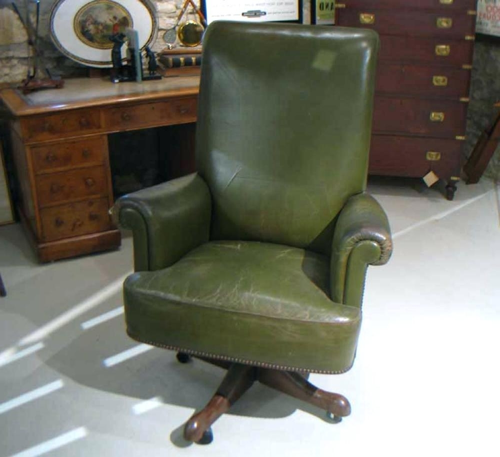 Favorite Desk Chair ~ Executive Desk Chairs Leather Bright Furniture For Throughout Green Executive Office Chairs (View 9 of 20)